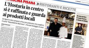 """18/10/2013 Articolo su """"Il Tirreno"""" di Pisa"""